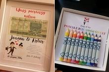 Alternatywa dla kartki na wesele ;) Ramka z pierwszym milionem młodej pary......
