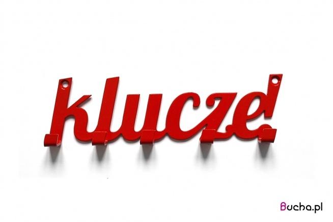 Czerwony wieszak na klucze. Ścienny wieszak stalowy od Bucha. Dostępny również w kolorach: czarny, biały, czerwony, żółty, granatowy