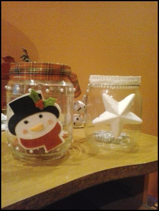 Własnoręcznie wykonane świeczniki :)