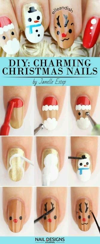 Jak w kilku krokach zrobić świąteczne paznokcie.