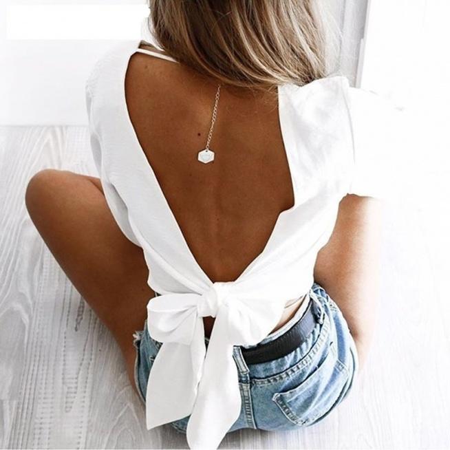 Elegancka bluzka z odkrytymi plecami? TAK! ;) kliknij w zdjęcie i zobacz gdzie kupić ;)
