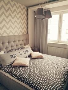 Pościel IKEA, sypialnia w kolorze szarym
