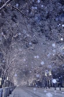 Miasto - Zimą.