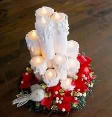 świeczniki z różnych rolek ...