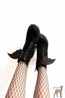 skrzydełka nietoperza do butów! pasują do wszystkich butów sznurowanych. Idea...