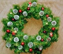 Świąteczny wieniec diy