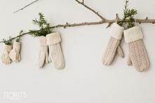 Rękawiczki też mogą być fajną zimowo-świąteczną dekoracją :)