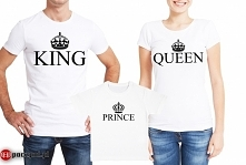 king queen prince