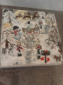 własnoręcznie malowane pude...