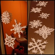 Papierowe śnieżynki, które ...