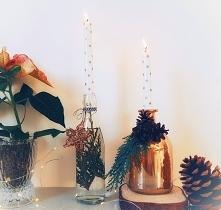 Butelkowe świeczniki ozdobi...