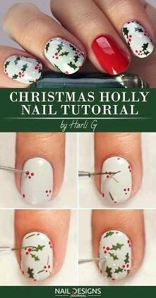 Jak zrobić świąteczne paznokcie.