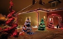 uwielbiam pięknie ustrojone domy na święta