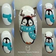 Jak stworzyc słodkie pingwinki na pazurkach.