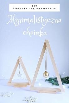 DIY Minimalistyczna choinka - świąteczne dekoracje • origamifrog.pl