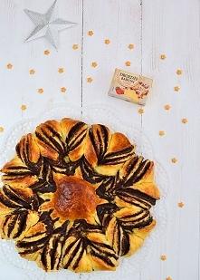Gwiazda drożdżowa z kremem czekoladowym