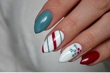 Moje świąteczne paznokcie :...