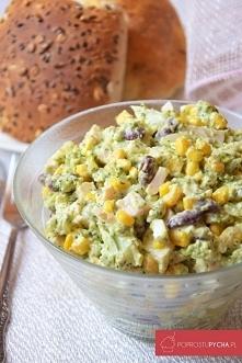 Brokułowa sałatka w sosie c...