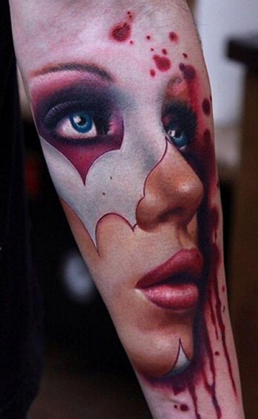 Portrait Forearm Tattoo