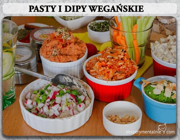 Dziś menu na wegańską imprezę, bo chyba każdy z nas ma wśród znajomych jakiegoś weganina :) Pasty, dipy i nie tylko