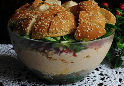 Sałatka hamburger