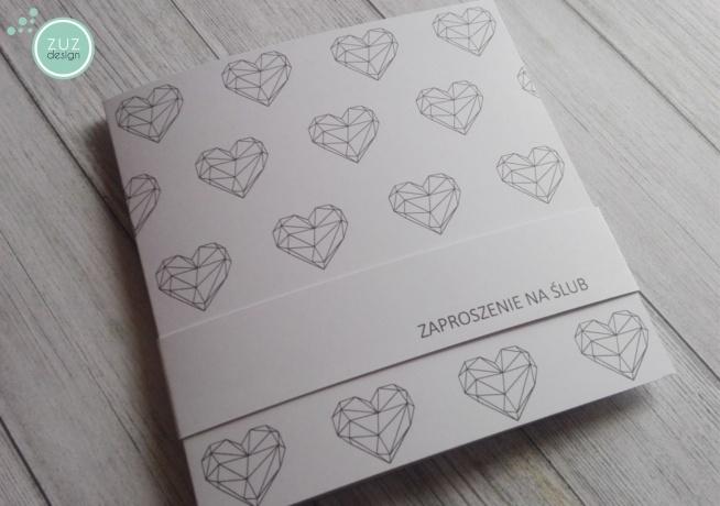 Zaproszenia ślubne Z Kolekcji Lea Zuzdesignfacebook Na Zaproszenia