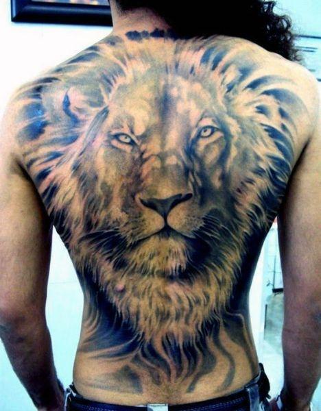 Tatuaże Zwierząt Głowa Lwa Na Tatuaże Zszywkapl
