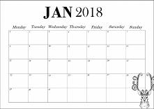 Kalendarz do wydrukowania: styczeń 2018! Więcej kalendarzy na blogu: liveaslinnet.blogspot.com