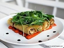 Cannelloni z kurczakiem na duszonej marchwi