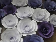 papierowe kwiaty(dostępne na zamówienie)dekoracja; sali balowej, weselnej, komunijnej, stołu, witryny sklepowej, ścianki w butiku, ścianki na sesji fotograficznej