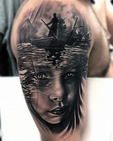 tatuaże 3d twarz i łodzie