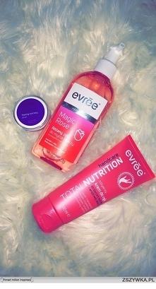 * peeling cukrowy do ust o smaku poziomki * różany żel do mycia twarzy do wszystkich typów skóry * odżywczy krem do rąk do bardzo suchej i wrażliwej skóry :) #evrēe #polecam