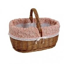 Sklep internetowy moon-pearl pl poleca elegancki koszyk wiklinowy z dekoracyj...