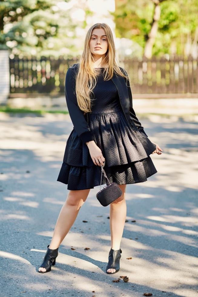 Piękna czarna sukienka od Sopsi uszyta dla @martika588 #sopsi #sopsifashion