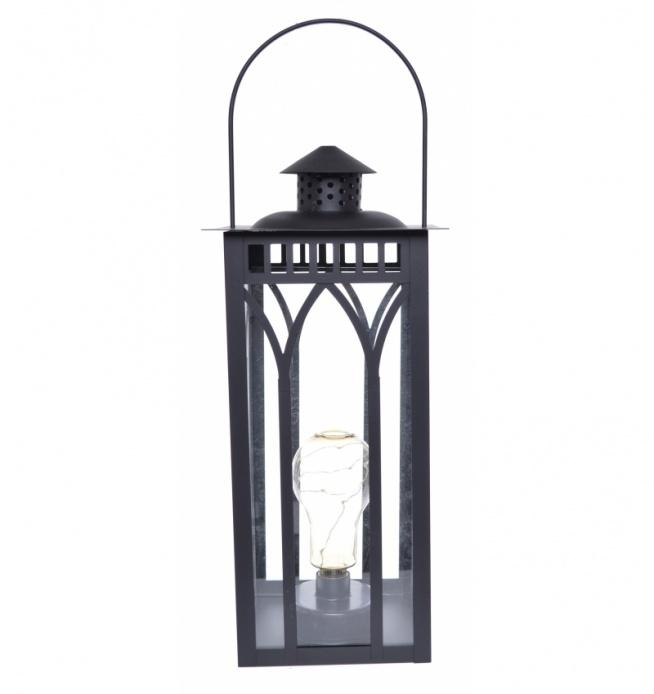 Lampa - latarnia metalowa na żarówkę - wyjątkowo piękna dekoracja do domu