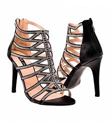 Seksowne sandały złote z pa...