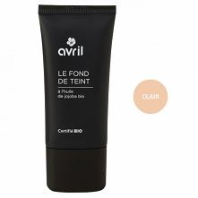 Organiczny podkład pod makijaż Clair 30ml - Avril Organic Podkład do twarzy Avril Clair o jasnym odcieniu z organicznym olejkiem jojoba, dzięki któremu Twoja skóra będzie nawilż...