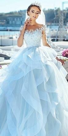 błękitna suknia ślubna ❤