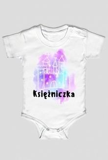 Body niemowlęce z napisem Księżniczka