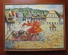 """mały akrylowy obrazek """"Kazimierz Dolny"""" 18x24cm"""