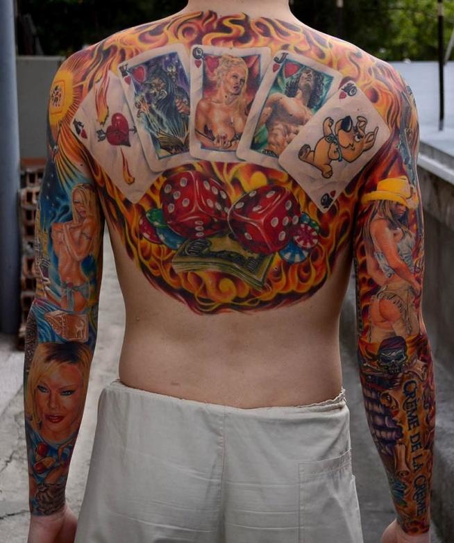 Karty Do Gry I Kości Na Ciekawe Tatuaże Zszywkapl