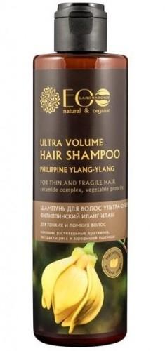 Szampon na miękkiej ekologicznej bazie myjącej, delikatnie oczyszcza włosy, nie niszcząc naturalnej ochrony skóry głowy i włosów. Olejek ylang ylang wzmacnia strukturę włosów, nadaje im piękny i zadbany wygląd. Kompleks roślinnych protein w połączeniu z ekstraktami z ryżu i zarodków pszenicy nadaje włosom objętość, przywraca sprężystość i elastyczność. Szampon przywraca włosom blask i piękny, zadbany wygląd. Olejek ylang-ylang - stosowany w kosmetyce ze względu na znakomite właściwości anty łojotokowe. Reguluje produkcję sebum, łagodzi stany zapalne, zapobiega łuszczeniu się skóry. Także jako dodatek do szamponów i odżywek