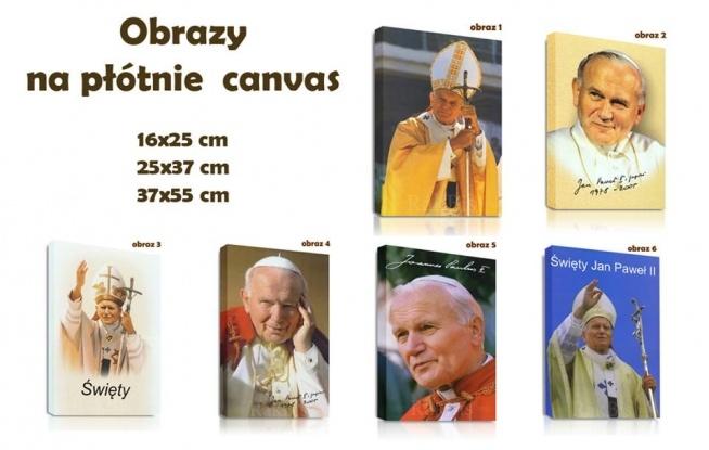 Prezent urodzinowy, pamiątka Ślubu, Komunii lub Chrzcin. To ty decydujesz na jaką okazję wybierzesz nasz obraz na płótnie z papieżem Janem Pawłem II. Dodamy do niego wybraną przez Ciebie dedykację. Taki prezent będzie wyjątkowy.