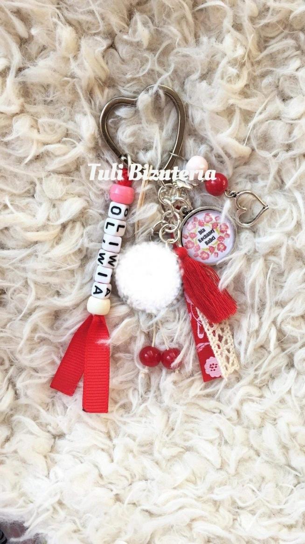 Brelok dla kochanej babci jako prezent od wnuczki by Tuli Biżuteria