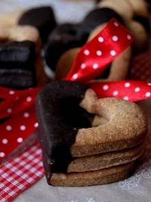 Świąteczne ciasteczka w czekoladzie