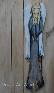 Anioł malowany na dece, wys 70cm, sprzedam
