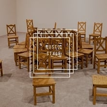 rustykalne krzesła woskowane