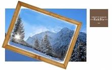 Nasze bestsellery. Rama drewniana lakierowana w rozmiarze A2 i pasujący do niej wydruk zdjęcia lub grafiki.