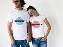 Koszulki dla zakochanych z napisami oblubieniec i oblubienica