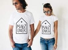 Koszulki dla zakochanych z napisami: małżonek i małżonka